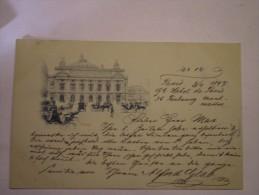 Paris // Opera // Litho Very Early USED 1897 !!!! Tres Rare - Altri Monumenti, Edifici