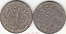 ETIOPIA 25 Cents KM#46.3 - Used - Etiopia