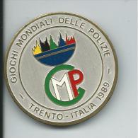 MED046 - SPILLA - GIOCHI MONDIALI DELLE POLIZIE  - TRENTO 1989 - Sport Invernali