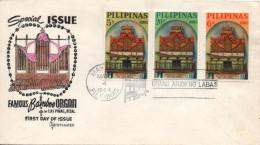 Enveloppe FDC ETB 1er Jour PHILIPPINES Las Pinas (1964) : Bamboo Bambou Orgue Orgel Organ Organo - Music