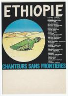 """ETHIOPIE , Chanteurs Sans Frontières  -    Humour à La Carte - CP """" Les Affiches De Concert """"  - AC 316 - Musique Et Musiciens"""