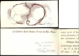 Invitation - Autographe De Philippe HOSIASSON, En 1966.
