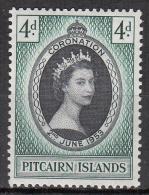Pitcairn  Islands    Scott No.  19    Mnh      Year  1953 - Timbres