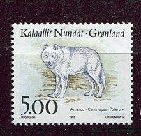 (cl 6 - P.36) Groenland ** N° 227 (ref. Michel Au Dos) - Loup - - Ungebraucht