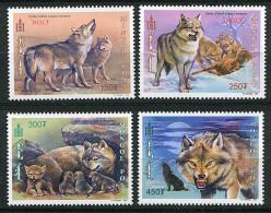 Mongolie ** N° 2420 à 2423 (ref. Michel Au Dos) -  Loups - - Mongolia