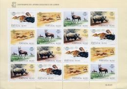 PORTUGAL 1984 FEUILLET CENTENAIRE ZOO LISBOA YVERT N°1596/99 -  NEUF MNH - Blocks & Sheetlets
