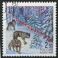 (cl 6 - P.39) Russie Ob  N° 6385 (ref. Michel Au Dos) -  Loups  - - 1992-.... Föderation