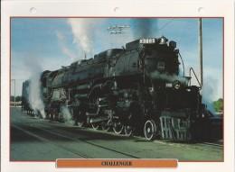 Trein.- Train - Locomotive - Challenger De X3985. - Baby Big-Boy - Verenigde Staten. Zie Ook Achterzijde. 2 Scans - Trains