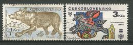 (cl 6 - P.41) Tchécoslovaquie Ob  N° 1040 - 2349 (ref. Michel Au Dos) - Loup - - Tschechoslowakei/CSSR