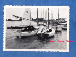 Photo ancienne - LOCMARIAQUER ( Morbihan ) - Bateau au port - Juillet 1950 - pr�s Arzon Larmor Baden - Boat Ship