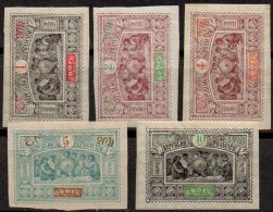 OBOCK - 5 Valeurs De 1894 Neuves - Obock (1892-1899)