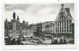 CPSM LILLE, BUS AUTOBUS, CAR AUTOCAR, TRAM TRAMWAY SUR LA GRAND ' PLACE, Format 9 Cm Sur 14 Cm Environ, NORD 59 - Lille