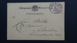 Germany - Bayern - 1879 - Mi: P18 Used - Postal Stationery  - Look Scan - Bavière