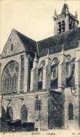 77Z72-MOR-11 - MORET - L'église - ND N° 41 - Cad 29-7-17 - Oblit. Militaire Vagmestre Au Verso - Moret Sur Loing