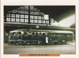 Trein.- Train - Locomotive - Gasoline Car Mac Keen Te Omaha Union Station. Verenigde Staten. Zie Achterzijde. 2 Scans - Treinen