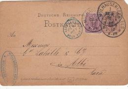 Entier Postal+Timbre Mulhausen.Els, Cachet D´entrée Bleu >> France 1878 - Ganzsachen