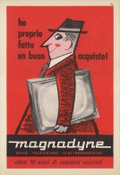 # MAGNADYNE TV TELEVISION ITALY 1950s Advert Pubblicità Publicitè Reklame Publicidad Radio TV Televisione - Television