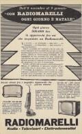 # RADIOMARELLI TV TELEVISION ITALY 1950s Advert Pubblicità Publicitè Reklame Publicidad Radio TV Televisione - Literature & Schemes