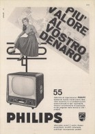 # PHILIPS TV TELEVISION ITALY 1950s Advert Pubblicità Publicitè Reklame Publicidad Radio TV Televisione - Televisie