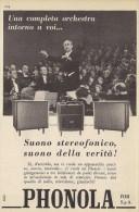 # PHONOLA AMPLIFIER AMPLIFICATORI Italy 1950s Advert Pubblicità Publicitè Reklame Publicidad Radio TV Television - Non Classificati