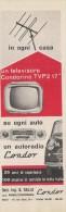 # CONDOR AUTORADIO ITALY 1950s Advert Pubblicità Publicitè Reklame Drehscheibe Car Radio TV Television - Unclassified