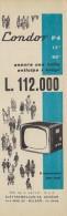 # CONDOR TV ITALY 1950s Advert Pubblicità Publicitè Reklame Drehscheibe Car Radio TV Television - Television