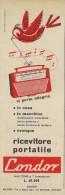 # CONDOR RADIO ITALY 1950s Advert Pubblicità Publicitè Reklame Drehscheibe Car Radio TV Television - Television