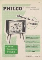# PHILCO TV ITALY 1950s Advert Pubblicità Publicitè Reklame Drehscheibe Radio Television Televisore - Radio & TSF