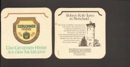 Bierdeckel Iserlohner Pilsener R: Robert Kolb Turm Herscheid - Bierdeckel
