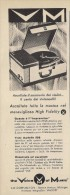 # VM MICHIGAN USA GIRADISCHI TURNTABLE Italy 1950s Advert Pubblicità Publicitè Reklame Drehscheibe Radio TV Television - Unclassified