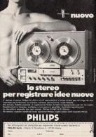 # PHILIPS RECORDER ITALY 1950s Advert Pubblicità Publicitè Reklame Publicidad Radio Registratore TV Television - Radio & TSF