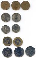 Lot De Commémoratives De La 5e République 1F, 2F, 5F, 10F, 20F - France