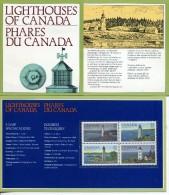 CANADA 1984 PHARES YVERT N°891/94 NEUF MNH** + CARTE - Vuurtorens