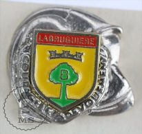 Sapeurs Pompiers / Fireman Firefighter Helmet - France, Labruguiere Coat Of Arms - Pin Badge #PLS - Bomberos