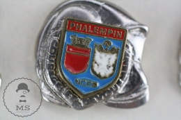 Sapeurs Pompiers / Fireman Firefighter Helmet - France Phalempin Coat Of Arms - Pin Badge #PLS - Bomberos