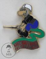 Sapeurs Pompiers / Fireman Firefighter - France,  Avec Ballard Pas De Lezard, Green Colour - Pin Badge #PLS - Bomberos
