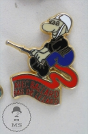 Sapeurs Pompiers / Fireman Firefighter - France,  Avec Ballard Pas De Lezard, Red Colour - Pin Badge #PLS - Bomberos