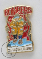 Sapeurs Pompiers Spain, Santa Coloma De Gramanet / Fireman Firefighter - Pin Badge #PLS - Bomberos