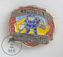 Camden Fire Department - Fireman Firefighters - Pin Badge #PLS - Bomberos