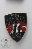 Everett Fire Department - Fireman Firefighters - Enamel Pin Badge #PLS - Bomberos