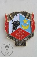 Lunel, France - Courage Et Devouement - Sapeurs Pompiers - Fireman Firefighters - Pin Badge #PLS - Bomberos