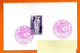 91 EVRY    V° EXPO CROIX ROUGE 1976 Lettre Entière N° I 287 - Marcofilie (Brieven)