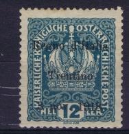 Italy Trento, Trentino, Venezia Tridentina 1918 Sa Nr 5 MH/* Signed/ Signé/signiert/ Approvato - Trentino