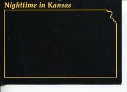(M+S 101) USA - Carte Noire - La Nuit - T Night - Black Card - Kansas - United States