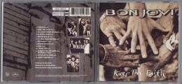 "ALBUM  C-D  BONJOVI  "" KEEP THE FAITH  ""  DE  1992"