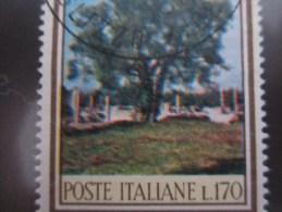 Italia / Italy / Italie -1966 L. 170 OLIVO COLORI MOSSI  - - 6. 1946-.. Repubblica