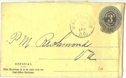 LBL30 - ETATS UNIS EP ENVELOPPE OFFICIELLE VOYAGEE - Postal Stationery