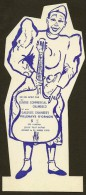 Publicité Carton Découpé 22 Cm Env. Clown Blanc Cirque Pour Centre Commercial CHAMBECO Villenave 33 - Plaques En Carton