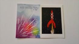 Timbre Australia 70c fus�e Tintin Kuifje