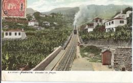 LBL30 - FUNCHAL SUR CPA POUR LE DANEMARK OCTOBRE 1904 THEME TRAINS CREMAILLERE - Funchal